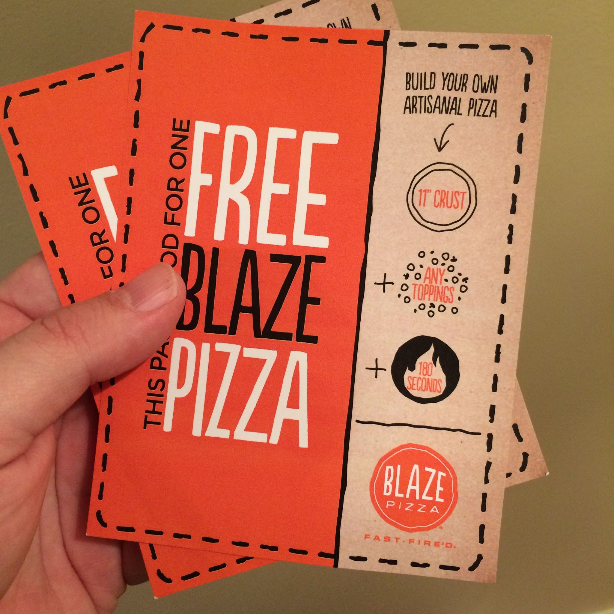 Blaze pizza coupon code
